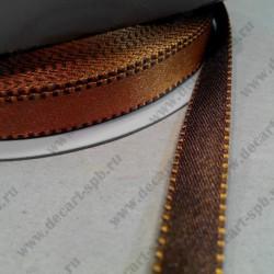 Лента декоративная, двусторонняя, атласная, 10 мм