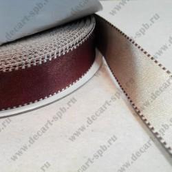 Лента декоративная, двусторонняя, атласная, 17 мм