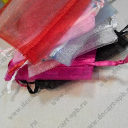 Мешочек из органзы микс, 10*12 мм