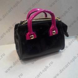 Сумка для куклы на замке, чёрно-розовая,95*85 мм