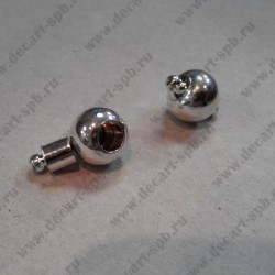 Магнитый замок, сфера, серебро, 12 мм