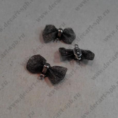 """Коннектор """"бантик"""", ант. серебро, 18*10 мм"""