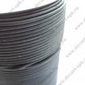 Шнур кожаный 4мм, круглый черный, 1м (Индия)