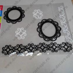 Набор для творчества из фетра (104), чёрно-белые, 6 элементов
