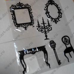 Набор для творчества из фетра (108), чёрный, 6 элементов
