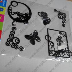 Набор для творчества из фетра (107), чёрный, 6 элементов