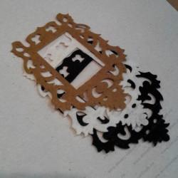 Набор для творчества из фетра, чёрно-бежево-белый микс, 3 элемента