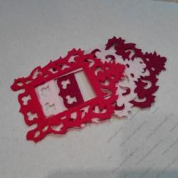 Набор для творчества из фетра, красно-бордово-розовый микс, 3 элемента