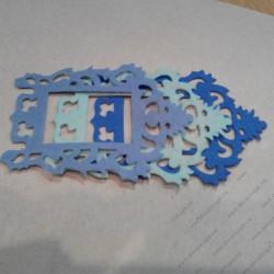 Набор для творчества из фетра, сине-ментолово-голубой микс, 3 элемента