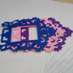 Набор для творчества из фетра, фиолетово-сине-розовый микс, 3 элемента