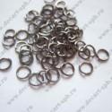 Кольцо для бус 6мм черный никель 10 шт