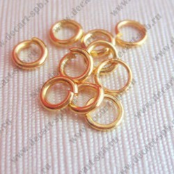 Кольцо для бус 7мм золото 25шт