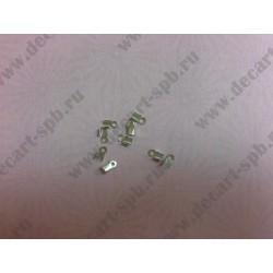 Зажим для маскировки узла 6х2 мм цвет никель