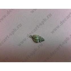 Раковина 25х13 мм цвет серебро