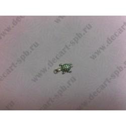 Черепашка 22х12 мм цвет серебро