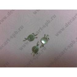 Клубок ниток 25 12 мм цвет антивирус серебро