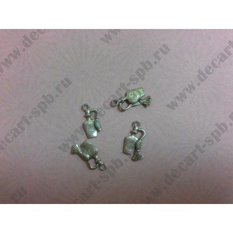 1-9 флакон духов 20х10мм серебро