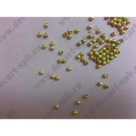 6-1 Бусина металлическая 4мм золото