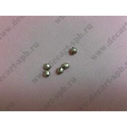 6-1 Бубенчик металлический диаметр 6мм 10штук цвет-серебро