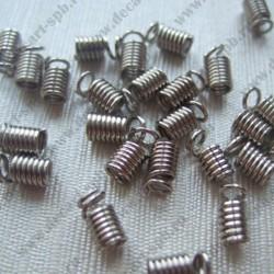 """Концевик """"пружина"""" 9х5мм никель"""