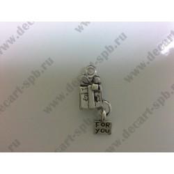 1-9 подарок for you серебро 25х10мм