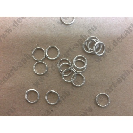 5-1 Кольцо для бус цвет- никель 6мм 25 шт