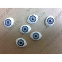 Глазки для кукол 15х11мм зрачок 8мм фиолетовый, пара
