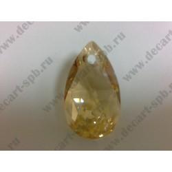 Подвеска 6106 Crystal Golden Shadow 28мм