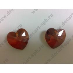 Подвеска 6228 Xilion heart Crystal Red Magma 18x17.5мм