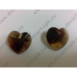 Подвеска 6228 Xilion heart Topaz Blend 18x17.5мм