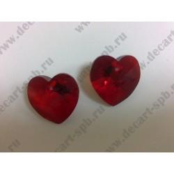 Подвеска 6228 Xilion heart Siam 18x17.5мм