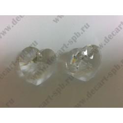 Подвеска 6228 Xilion heart Crystal 18x17.5мм