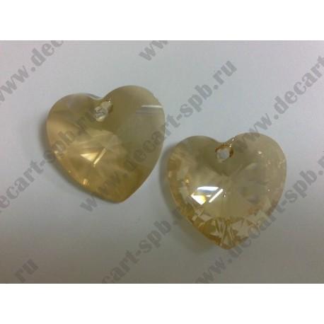 Подвеска 6228 Xilion heart Golden Shadow 28мм