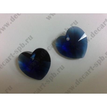 Подвеска 6228 Xilion heart Dark Indigo 18x17.5мм
