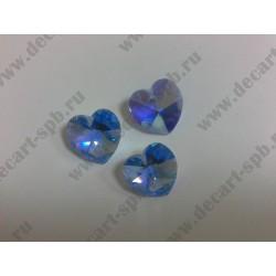 Подвеска 6202 сердечко Light Sapphire Aurore Boreale (AB) 18x17.5мм