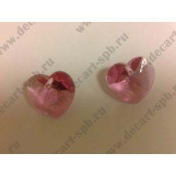 Подвеска 6228 Xilion heart Rose 18x17.5мм