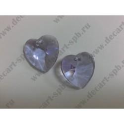 Подвеска 6228 Xilion heart  Violet 28мм