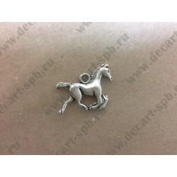Подвеска Лошадь цвет - ант серебро