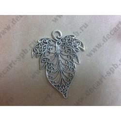 Подвеска Лист цвет - серебро