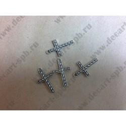 Подвеска Крест цвет - ант серебро