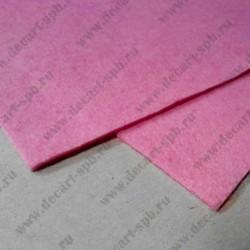 Фетр декоративный 21х 29.7мм толщина 2мм розовый