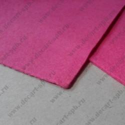 Фетр декоративный 21х 29.7мм толщина 2мм ярко- розовый