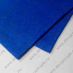 Фетр декоративный 21х 29.7см толщина 2мм синий