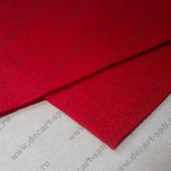 Фетр 20 Х 30 см толщина 1.4мм красный