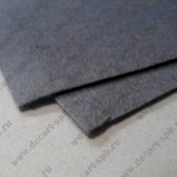 Фетр декоративный 21х 29.7см толщина 2мм серый