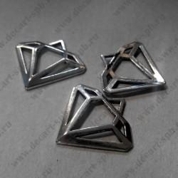 Подвеска алмаз серебро 30х27мм