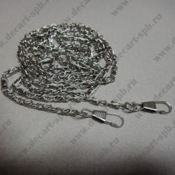 Декоративная цепочка для сумки, цвет- серебро, 120х 0.5см
