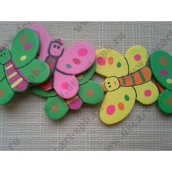 "Бабочка ""детский рисунок"" 3х3см микс"