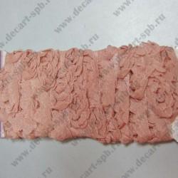 Лента с розами тканевыми 20 мм розовая 50 см