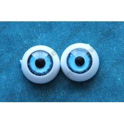 Глазки 12мм, цвет - голубой, 2шт